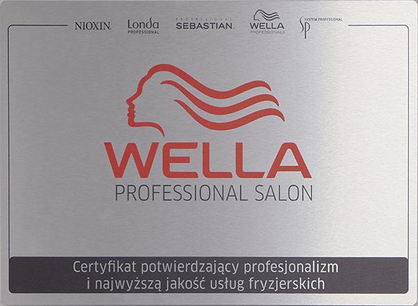 Certyfikat WELLA PROFESIONAL SALON